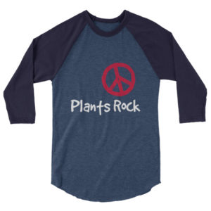 Plants Rock 3/4 sleeve raglan shirt
