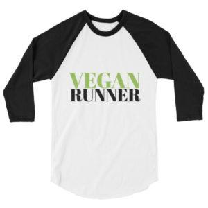 VEGAN RUNNER 3/4 sleeve raglan shirt